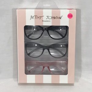 NWT Betsey Johnson 3 Pack Reading Glasses +2.00